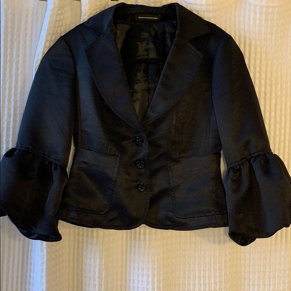 Express Jackets & Blazers - Express black formal blazer with balloon sleeves